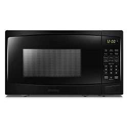 Danby DBMW0720BBB 0.7 Cu.Ft. Countertop Black-700 Watts, Small Microwave with Push Button Door,  ...