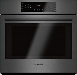 Bosch HBL8443UC 800 Series 30 Inch Black Stainless Steel Electric Single Wall Convection Oven (B ...