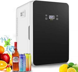 20-liter Compact Cooler/Warmer Mini Fridge/Wine Cooler with LCD Display + Digital Thermostat + C ...