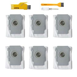 aoteng 6 Pack Replacement Disposal Bags for iRobot Roomba i7 i7+/Plus s9+/Plus E5 E6 Robot Vacuu ...