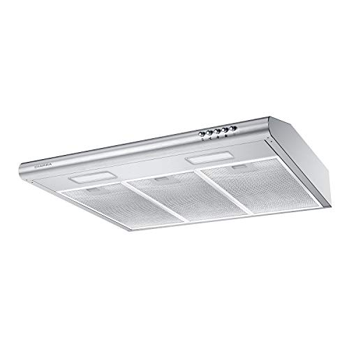 30 inch Under Cabinet Range Hood CIARRA Stainless Steel Slim Kitchen Stove Vent Hood with 200 CF ...
