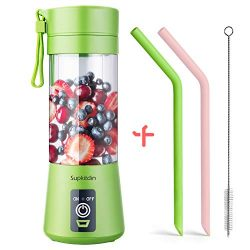 Supkitdin Portable Blender, Personal Mixer Fruit Rechargeable with USB, Mini Blender for Smoothi ...
