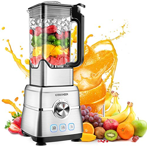 Blender Smoothie Maker, COOCHEER 1800W Blender for Shakes and Smoothies with High-Speed Professi ...