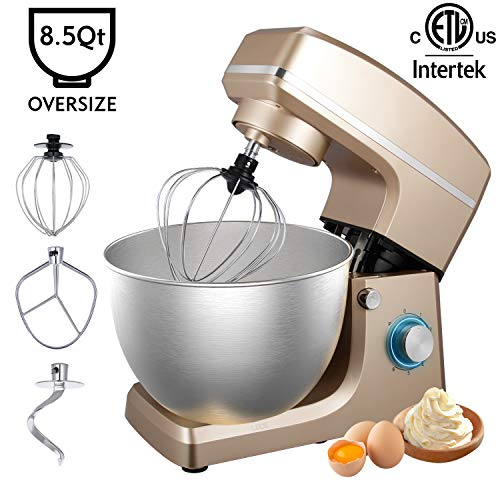 Stand Mixer, Sincalong 8.5QT 6 Speed Control Electric Stand Mixer with Stainless Steel Mixing Bo ...