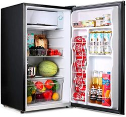 TACKLIFE Compact Refrigerator, 3.2 Cu Ft Mini Fridge with Freezer, Energy Star Rating, Low noise ...