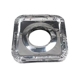 FASOTY Aluminum Foil Gas Stove Burner Liners 50pcs Stove Burner Covers Disposable Square Stove B ...