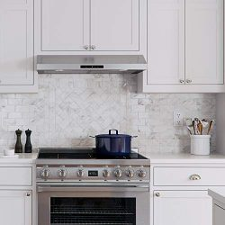 CAVALIERE 30″ Inch Under Cabinet Range Hood Stainless Steel Kitchen Exhaust Vent With 200  ...