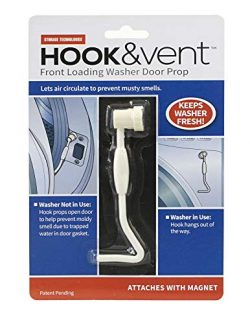 HOOK & vent front loading washer door prop enabling air circulation preventing musty smells. ...