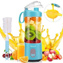 Portable Blender, Olivivi 2020 Multifunctional Personal Blender Mini Smoothie Blender 6 Powerful ...