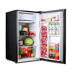 Compact refrigerator, TACKLIFE Mini Fridge with Freezer, 3.2 Cu.Ft, Silence, 1 Door, Black, Idea ...
