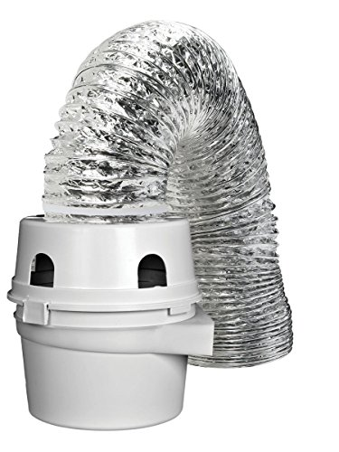 Dundas Jafine TDIDVKZW Indoor Dryer Vent Kit with 4-Inch by 5-Foot Proflex Duct, 4 Inch, White ( ...