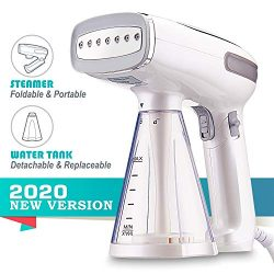 2020 Profesional Travel Garment Steamer, Handheld Foldable Fabric Wrinkle Remover, Portable Stea ...