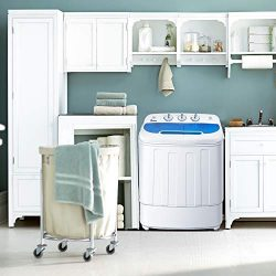 Compact Portable Mini Washing Machine, twin tub Washer + Dryer, Semi-Automatic, 13lbs Capacity,  ...